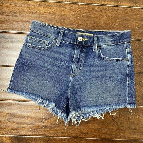 JOE'S JEANS Mid-Rise Cut Off Jean Shorts in Medium